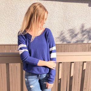 aritzia royal blue rugby sweater